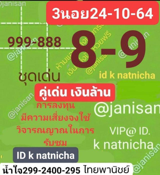 แนวทางหวยฮานอย24-10-64-ruayvip11