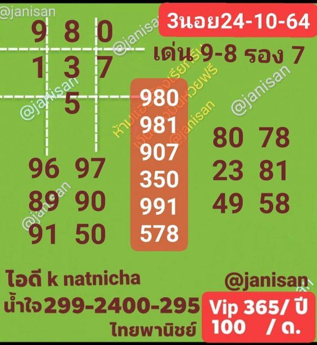 แนวทางหวยฮานอย24-10-64-ruayvip12