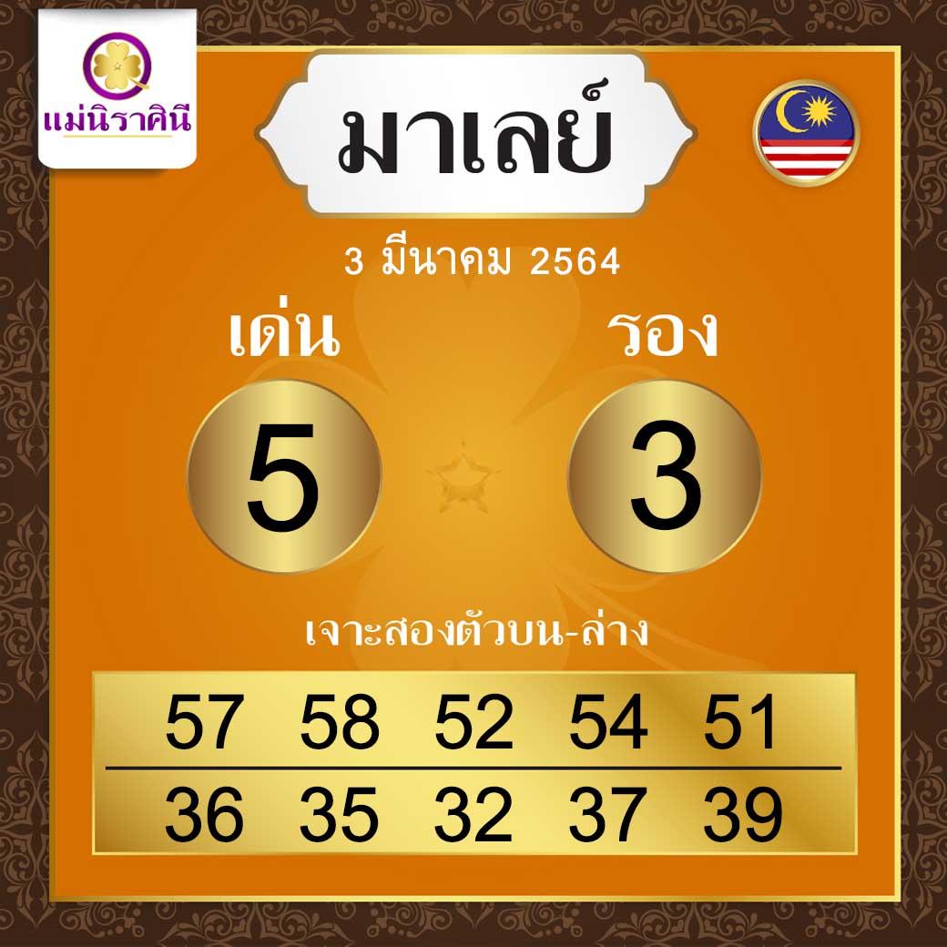 สูตรหวยฮานอยแม่นิราศินี 3-3-64
